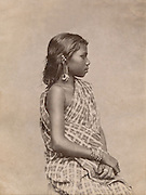 Tamil woman in sari.