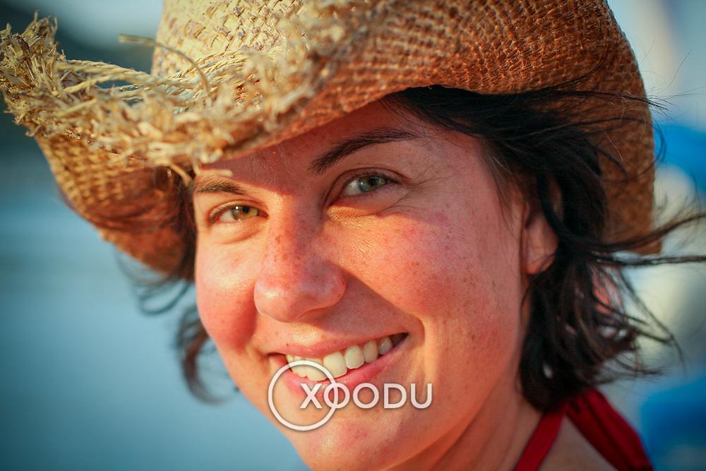 Cowboy hat girl (Simena (Kale), Turkey - Jul. 2008) (Image ID: 080713-1931042a)
