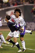 10 February 2006: The United States' Josh Wolff (16) is challenged by Japan's Yuji Nakazawa (22). The United States Men's National Team defeated Japan 3-2 at SBC Park in San Francisco, California in an International Friendly soccer match.