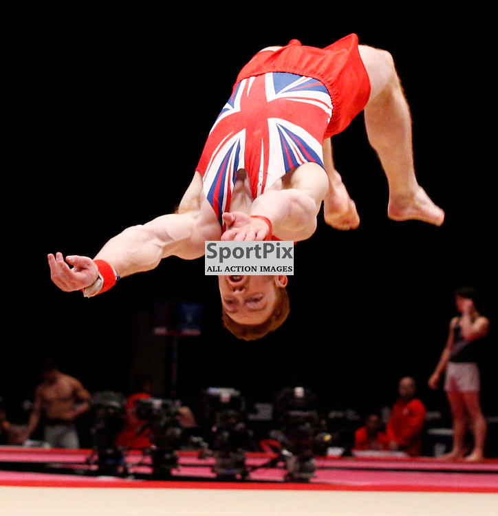 2015 Artistic Gymnastics World Championships being held in Glasgow from 23rd October to 1st November 2015.....Daniel Purves (Great Britain) competing in the Floor Exercise competition..(c) STEPHEN LAWSON | SportPix.org.uk