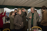 LADY SERENA LINLEY; VISCOUNT LINLEY; JULIAN BANNERMAN, The Heythrop Hunt Point to Point. Cocklebarrow. 24 January 2016