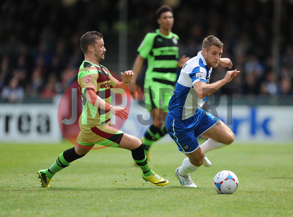 Bristol Rovers' Lee Brown- Photo mandatory by-line: Alex James/JMP - Mobile: 07966 386802 - 03/05/2015 - SPORT - Football - Bristol - Memorial Stadium - Bristol Rovers v Forest Green Rovers - Vanarama Football Conference