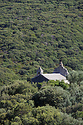 A church at the foot of Col de la Serra.