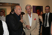 Peter Simon and Martin Summers, The Athlete series by Andy Warhol. Martin Summers Fine Art Ltd. Studio 54. Glebe Place. London. 23 May 2007.   -DO NOT ARCHIVE-© Copyright Photograph by Dafydd Jones. 248 Clapham Rd. London SW9 0PZ. Tel 0207 820 0771. www.dafjones.com.