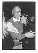 Naim Ayattalah, Katya Grenfell. Katya Grenfell Book Launch. Crazy Larry's.  30/9/87© Copyright Photograph by Dafydd Jones 66 Stockwell Park Rd. London SW9 0DA Tel 020 7733 0108 www.dafjones.com