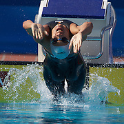 Jean Luis Gomez, Dominican Republic, in action during the Men's 200m Backstroke heats at the World Swimming Championships in Rome on Thursday, July 30, 2009. Photo Tim Clayton.