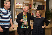 JANET BORDEN; MARTIN PARR,  Opening of the Martin Parr Foundation party,  Martin Parr Foundation, 316 Paintworks, Bristol, BS4 3 EH  20 October 2017