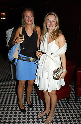Left to right, MISS ANNIE DEAKIN and LADY SYBILLA RUFUS-ISAACS at a party hosted by Frankie Dettori, Marco Pierre White and Edward Taylor to celebrate the launch of Frankie's Italian Bar & Grill at 3 Yeomans Row, London SW3 on 2nd September 2004.