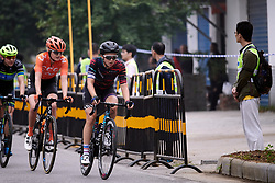 Rotem Gafinovitz (ISR) leads the bunch at GREE Tour of Guangxi Women's WorldTour 2019 a 145.8 km road race in Guilin, China on October 22, 2019. Photo by Sean Robinson/velofocus.com