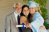 Senior Graduate with Grandchild