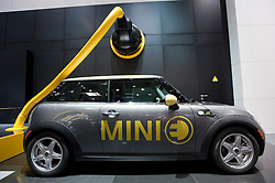 Electric Mini car on display at Paris Motor Show 2010