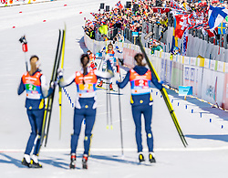 28.02.2019, Seefeld, AUT, FIS Weltmeisterschaften Ski Nordisch, Seefeld 2019, Langlauf, Damen, Staffel 4x5 km, im Bild Stina Nilsson (SWE) // Stina Nilsson of Sweden during the ladie's Relay 4x5 km competition of the FIS Nordic Ski World Championships 2019. Seefeld, Austria on 2019/02/28. EXPA Pictures © 2019, PhotoCredit: EXPA/ Stefan Adelsberger