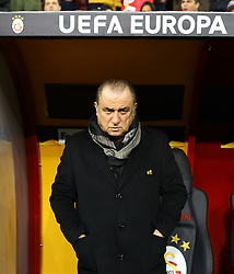 February 14, 2019 - Istanbul, Turkey - Galatasaray's trainer Fatih Terim during the UEFA Europa League round of 32 first leg football match between Galatasaray AS and SL Benfica at the Turk Telekom stadium, in Istanbul, on February 14, 2019. (Credit Image: © Mahmut Burak Burkuk/Depo Photos via ZUMA Wire)