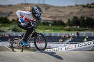 Women Elite #155 (MECHIELSEN Drew) CAN at the 2018 UCI BMX World Championships in Baku, Azerbaijan.
