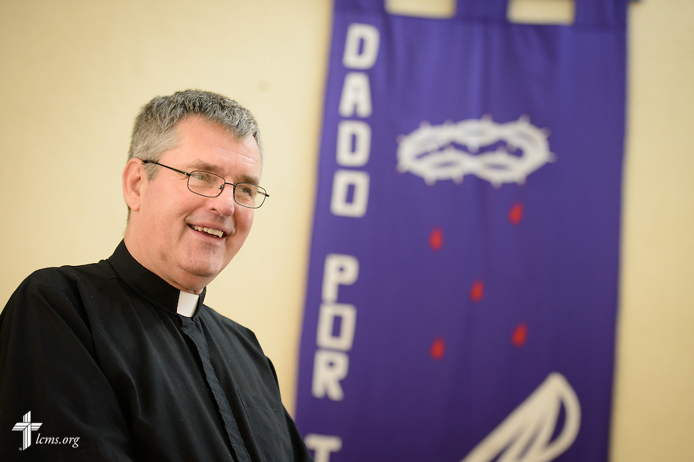 The Rev. Daniel Conrad, LCMS missionary to Mexico, waits for the start of service at the Lutheran Church of San Pedro on Sunday, Feb. 14, 2016, in Mexico City, Mexico. LCMS Communications/Erik M. Lunsford