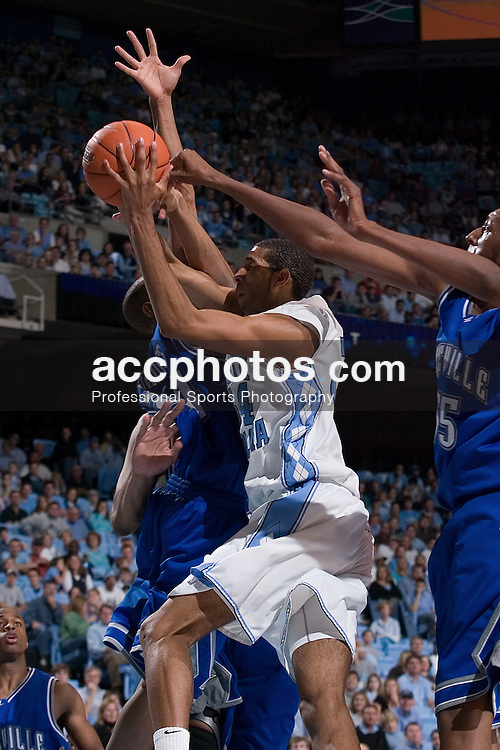 16 December 2006:  North Carolina Tar Heels forward (34) Brandan Wright during a North Carolina Tar Heels 93-62 win over the North Carolina - Asheville Bulldogs at the Dean Smith Center in Chapel Hill, NC.<br />