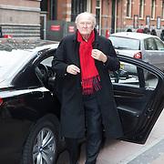 NLD/Amsterdam/20140316 - Inloop premiere toneelstuk Vaslav, Joop van den Ende stapt uit zijn auto