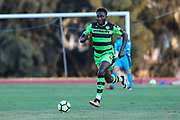 Forest Green Rovers Manny Monthe(6) runs forward during the Pre-Season Friendly match between SC Farense and Forest Green Rovers at Estadio Municipal de Albufeira, Albufeira, Portugal on 25 July 2017. Photo by Shane Healey.