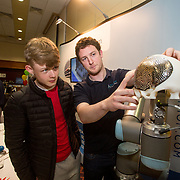 02.05.2017.       <br /> The Limerick for Engineering Showcase returned for its third year to the South Court Hotel in Raheen as demand for engineers in Limerick and the Mid-West region surges. <br /> <br /> Pictured at the event were, Ivan Fitzpatrick, St. Munchins College and Niall Hurley, Croom Precision Medical. Picture: Alan Place.