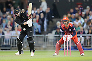 Leicestershire Foxes Callum Parkinson  during the Vitality T20 Blast North Group match between Lancashire Lightning and Leicestershire Foxes at the Emirates, Old Trafford, Manchester, United Kingdom on 30 August 2019.