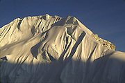 Snow peak in Alaska Range