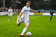 Leeds United Jack Clarke (11), on loan from Tottenham Hotspur, passes the ball during the Pre-Season Friendly match between Tadcaster Albion and Leeds United at i2i Stadium, Tadcaster, United Kingdom on 17 July 2019.