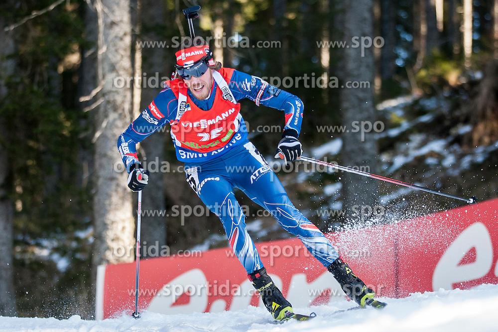 Jaroslav Soukup (CZE) competes during Men 12,5 km Pursuit at day 3 of IBU Biathlon World Cup 2015/16 Pokljuka, on December 19, 2015 in Rudno polje, Pokljuka, Slovenia. Photo by Urban Urbanc / Sportida