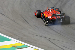 November 17, 2019, Sao Paulo, SP, Brazil: SEBASTIAN VETTEL of the Scuderia Ferrari after crash into his teammate Charles Leclerc, da Ferrari during Brazilian Formula 1 Grand Prix at Interlagos racetrack. (Credit Image: © Marcelo Chello/ZUMA Wire)