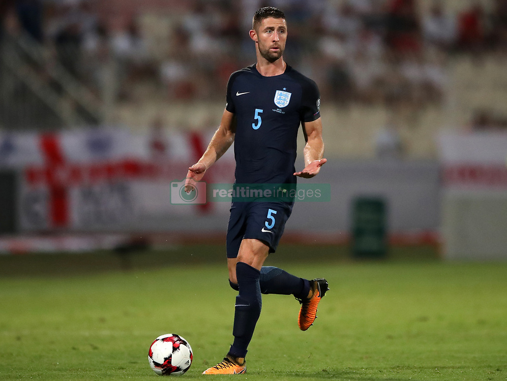 England's Gary Cahill during the 2018 FIFA World Cup Qualifying, Group F match at the National Stadium, Ta' Qali. PRESS ASSOCIATION Photo. Picture date: Friday September 1, 2017. See PA story SOCCER Malta. Photo credit should read: Nick Potts/PA Wire. RESTRICTIONS: Use subject to FA restrictions. Editorial use only. Commercial use only with prior written consent of the FA. No editing except cropping.