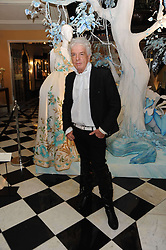NICKY HASLAM at the launch of the Claridge's Christmas Tree designed by John Galliano for Dior held at Claridge's, Brook Street, London on 1st December 2009.