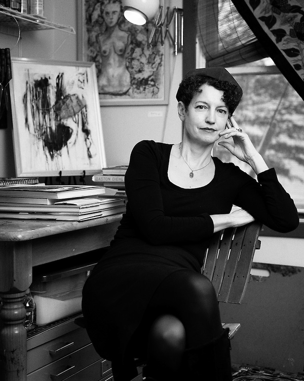 A portrait of the painter Kathleen Hurley-Liao in her studio in Hightstown, New Jersey.