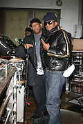 DJ Premier and Q-Tip at The Smirnoff Press Conference announcing Music Series held at Element on February 26, 2008