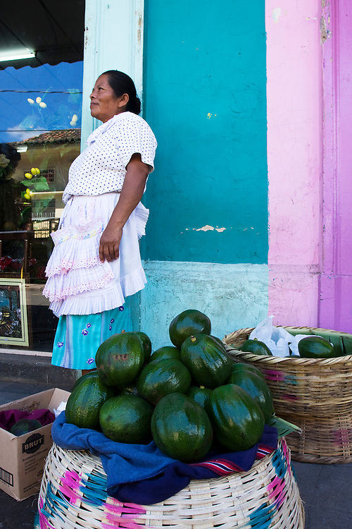 An unidentified vegetable is sold in front of the market in Granada, Nicaragua