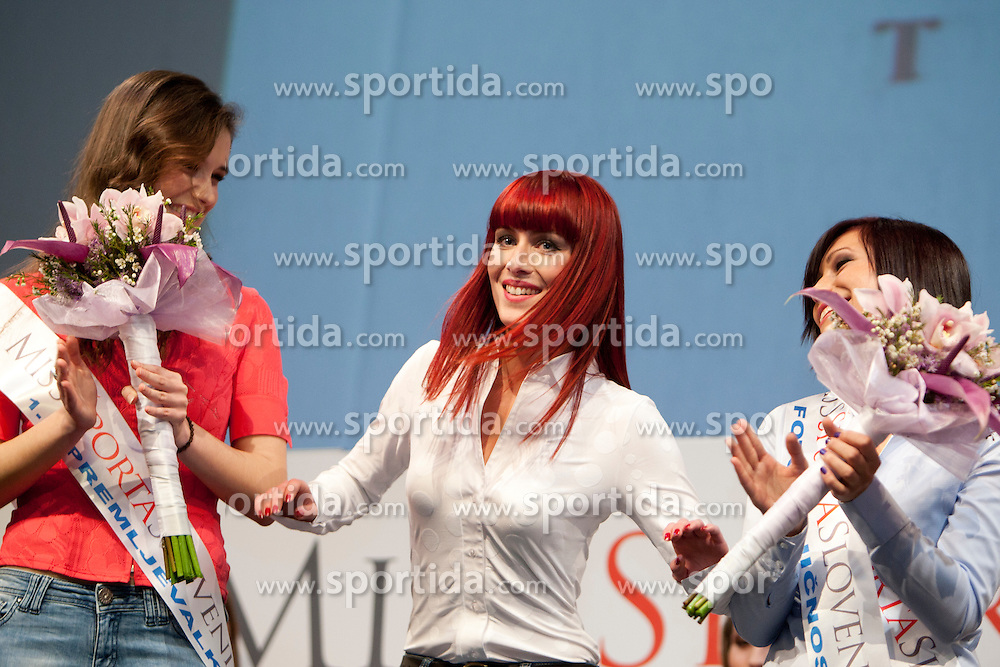 Urska Klavs winner of Miss Sports of Slovenia 2012, on April 21, 2012, in Festivalna dvorana, Ljubljana, Slovenia. (Photo by Urban Urbanc / Sportida.com)