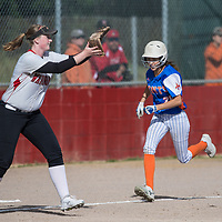 (Photograph by Bill Gerth/ for Max Preps/4/12/17) Santa Teresa vs Westmont in a BVAL girls varsity softball game at Westmont High School, Campbell CA on 4/12/17.