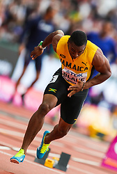 London, 2017 August 07. Yohan Blake, Jamaica, in the men's 200m heats on day four of the IAAF London 2017 world Championships at the London Stadium. © Paul Davey.