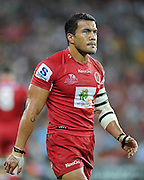 """Digby Ioane walks back to his position during action from the Super 15 Rugby Union match played between the Queensland Reds and the NSW Waratahs at Suncorp Stadium (Brisbane, Australia) on Saturday 23rd April 2011<br /> <br /> Conditions of Use : NO AGENTS ~ This image is intended for Editorial use only (news or commentary, print or electronic) - Required Images Credit """"Steven Hight - Aura Images"""""""