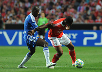 20120327: LISBON, PORTUGAL - Champions League 2011/2012 - Quarter-finals, First leg: SL Benfica vs Chelsea.<br /> In picture: Benfica's Emerson, from Brazil, right, fights for the ball with Chelsea's Ramires, from Brazil.<br /> PHOTO: Alvaro Isidoro/CITYFILES