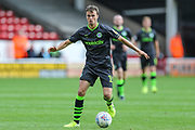 Forest Green Rovers James Morton(15) on the ball during the EFL Sky Bet League 2 match between Walsall and Forest Green Rovers at the Banks's Stadium, Walsall, England on 10 August 2019.