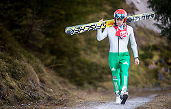 19.12.2014, Nordische Arena, Ramsau, AUT, FIS Nordische Kombination Weltcup, Skisprung, Training, im Bild Fabian Riessle (GER) // during Ski Jumping of FIS Nordic Combined World Cup, at the Nordic Arena in Ramsau, Austria on 2014/12/19. EXPA Pictures © 2014, EXPA/ JFK