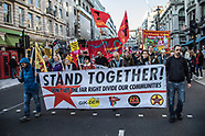17 Nov 2018 - Thousands march in central London in unity demonstration against racism and fascism.
