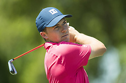 May 26, 2018 - Fort Worth, TX, USA - FORT WORTH, TX - MAY 26, 2018 - Jordan Spieth tees off on the 7th hole during the third round of the 2018 Fort Worth Invitational PGA at Colonial Country Club in Fort Worth, Texas (Credit Image: © Erich Schlegel via ZUMA Wire)