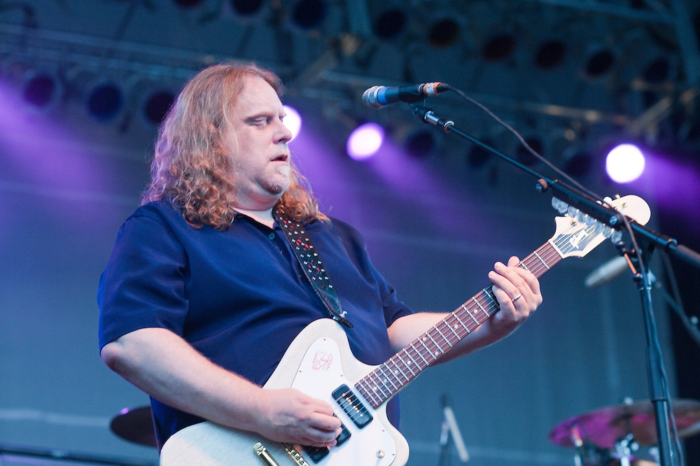 Artscape arts festival, Baltimore Maryland <br /> Warren Haynes of Government Mule playing guitar on stage