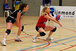 10-03-2012 VOLLEYBAL: B - LEAGUE DAMES VCN KING SOFTWARE - INSITEADVIES LYCURGUS: CAPELLE AAN DEN IJSSEL<br /> Lotte van Erk - Krabben, Anna Brouwer, VCN King Software<br /> ©2012-FotoHoogendoorn.nl / Pim Waslander