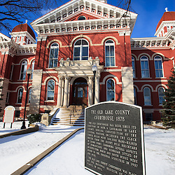Lake County Courthouse Crown Point Indiana photo. The Lake County Courthouse was built in 1878 and is nicknamed The Grand Old Lady. The courthouse architecture is Romanesque and Georgian. Today it's used for events and has a ballroom and restaurants.