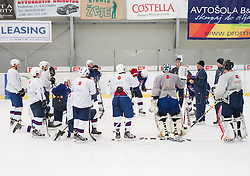 Matjaz Kopitar, head coach with players during practice session of Slovenian Ice Hockey National Team for IIHF World Championship in Sweden and Finland, on March 28, 2013, in Arena Zlato Polje, Kranj, Slovenia. (Photo by Vid Ponikvar / Sportida.com)