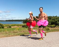 Great Cranberry Island Ultra 50K road race: Juli Goldstein and Zack Bowen