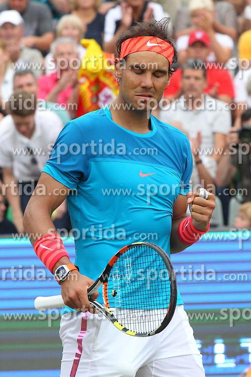 12.06.2015, Tennis Club Weissenhof, Stuttgart, GER, ATP Tour, Mercedes Cup Stuttgart, Viertelfinale, im Bild Rafael Nadal ( ESP ) nach dem Sieg // during quarter Finals of Mercedes Cup of ATP world Tour at the Tennis Club Weissenhof in Stuttgart, Germany on 2015/06/12. EXPA Pictures &copy; 2015, PhotoCredit: EXPA/ Eibner-Pressefoto/ Langer<br /> <br /> *****ATTENTION - OUT of GER*****