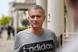 © Licensed to London News Pictures. 27/05/2016. London, UK.  JOSE MOURINHO leaves his home in west London on the day he was officially announced as the new manager of Manchester United Football Club. Photo credit: Ben Cawthra/LNP