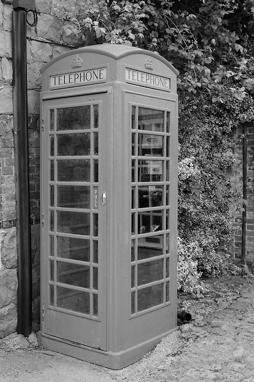 Telephone Booth - Avebury, UK - Black & White